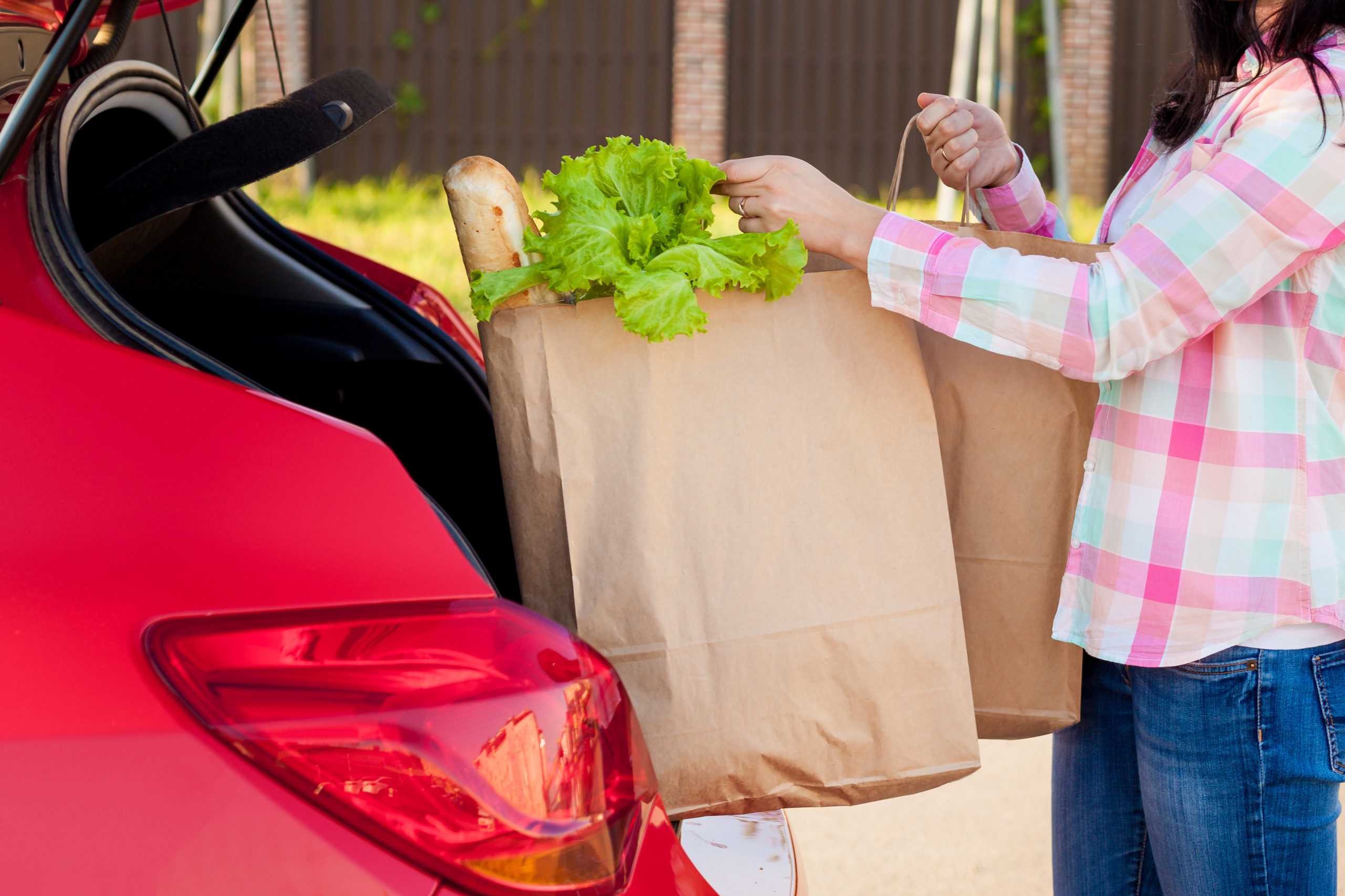 Customers placing online orders and picking up groceries is becoming more common.